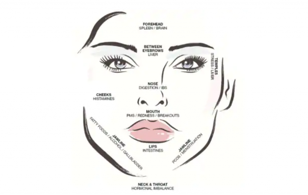 Use our face mapping tool to decipher what's causing your skin issues. Image: suppliedSource:BodyAndSoul